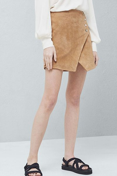 High Street Hits Suede Wrap Skirt, £49.99 | Mango