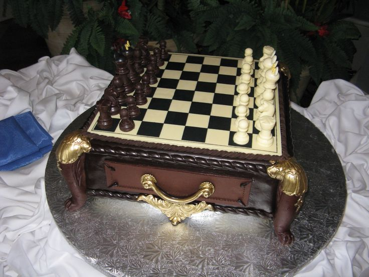 Grooms Cake Chessboard