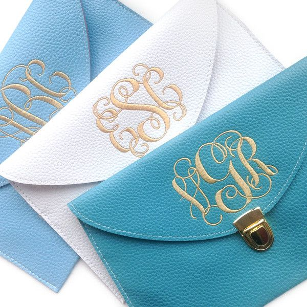 monogrammed bridesmaid clutches