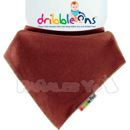 #DribbleOns Marrón #babero #bebe #quitababas http://www.panalesymas.com/baberos/baberos-dribble-ons-oscuros.html