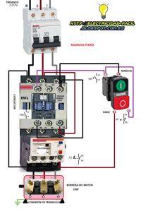 Esquemas eléctricos: marcha paro con botonera doble