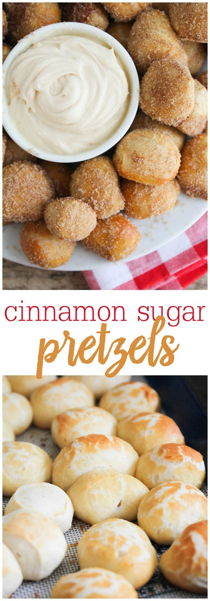 Cinnamon Sugar Pretzel Bites - copycat Auntie Anne's pretzels! These are the best!