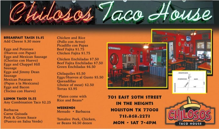 Chiloso's Taco House - love their breakfast tacos!