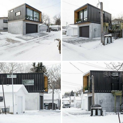 ho2 tiny shipping container home wohnen pinterest container h user container und architektur. Black Bedroom Furniture Sets. Home Design Ideas