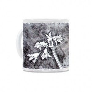 Campanula by suzannenichols  This monochrome image of a campanula is taken from an original pen & ink drawing on canvas by the artist Suzie Nichols.
