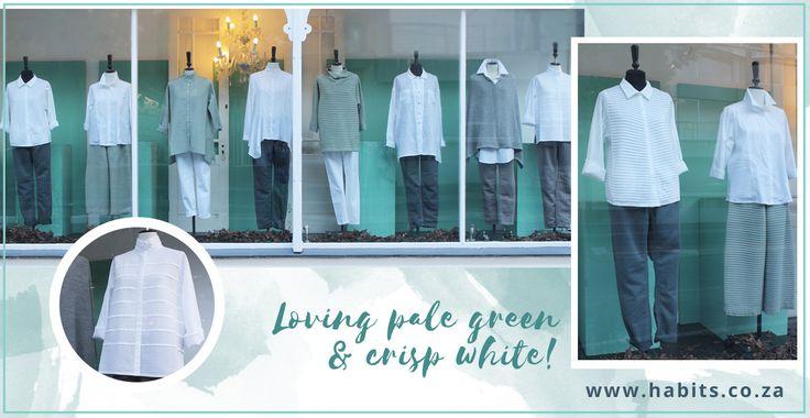 Loving pale green & crisp white