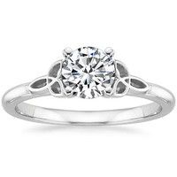 Engagement Ring Settings   Design Your Own Engagement Ring, Love the Celtic Knots on the sides!