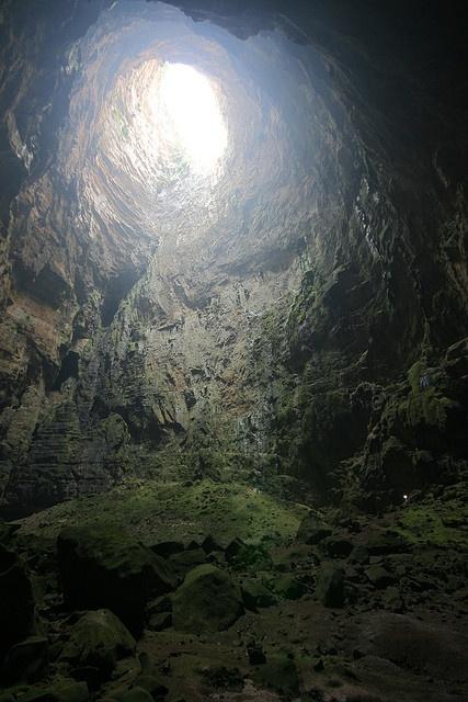 """""""Sótano de Las Golondrinas"""" (Cave of swallows) - San Louis Potosí, México."""