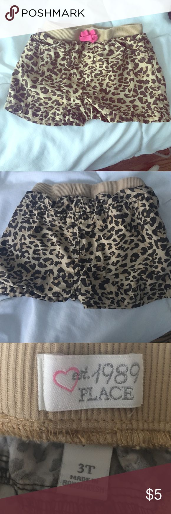 Leopard print shorts Perfect condition! Children's Place Bottoms Shorts
