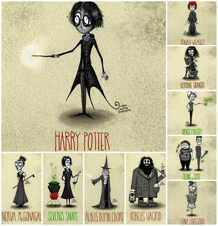 Harry Potter, Tim Burton style!