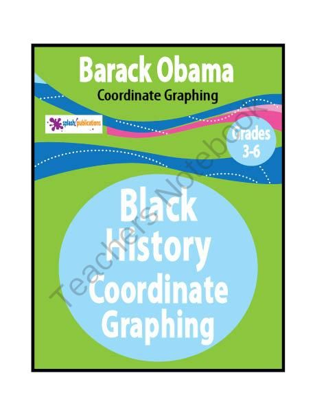 Our Barack Obama Grid Math, created in honor of Black History Month, requires 3rd-6th Grade students to use ordered pairs on a coordinate graph to create a mystery picture with a short biography about Barack Obama.