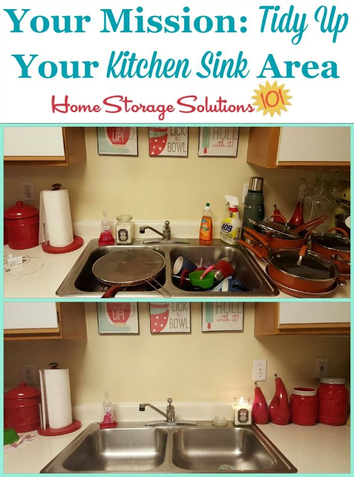 How To Declutter Your Kitchen Sink Area House Cleaning Tips