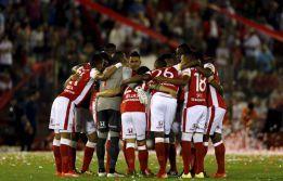 El equipo bogotano llegó en la mañana del lunes a Sao Paulo, con 21 jugadores a bordo, para afrontar el juego del miércoles frente a Corinthians. Febrero 29, 2016.