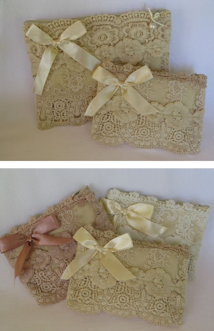 Love this cute idea for shabby chic lace purse. :)
