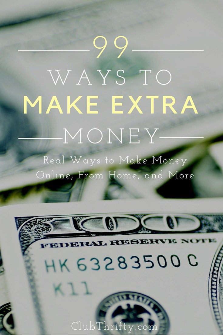 Looking for ways to make extra money but don't know how? Whether it's making money online or your own side job, here are 99 ideas for getting started.