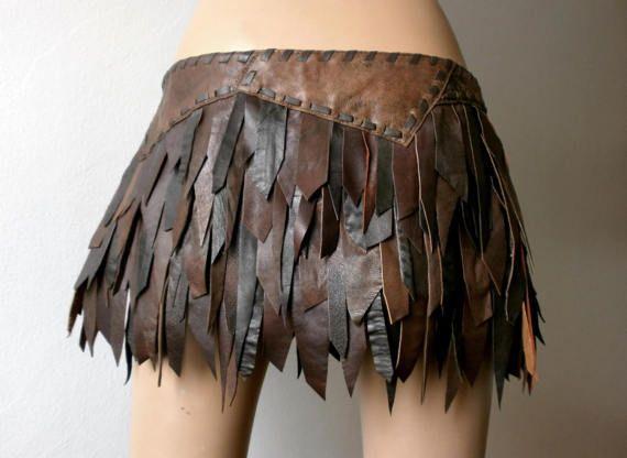 Guerreros de piel marrón de sueño reducido mini falda de