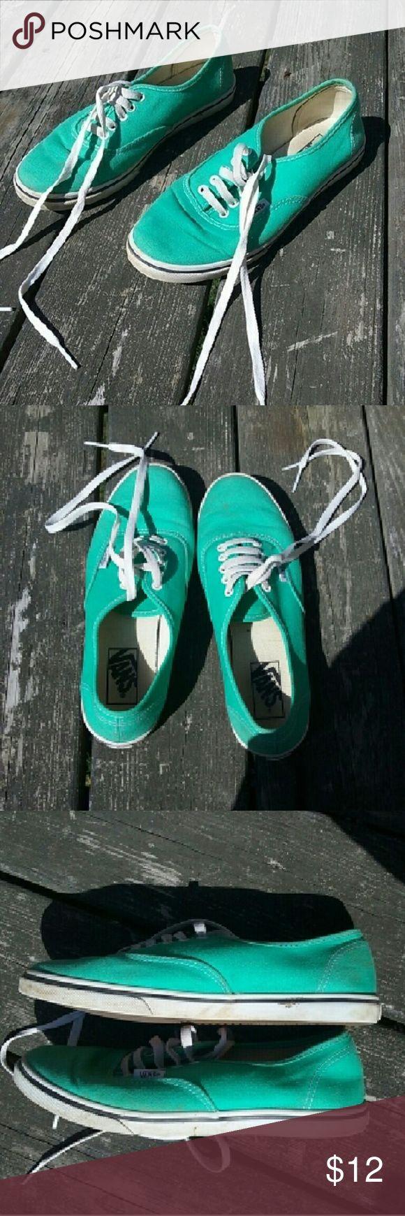 Mint green Vans Mint green vans in good condition size 7.5 Vans Shoes Sneakers