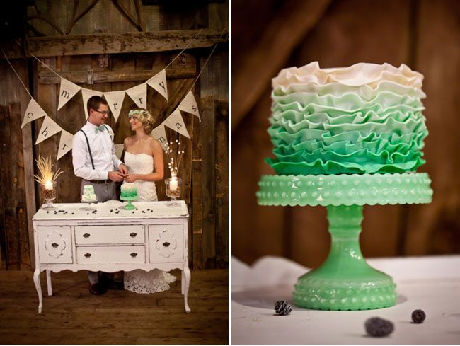 Look at that cakeWedding Ideas, Green Cake, Cake Stands, Lace Cake, Amazing Wedding Cake, Cake Tables, Ruffles Cake, Cake Plates, Green Wedding