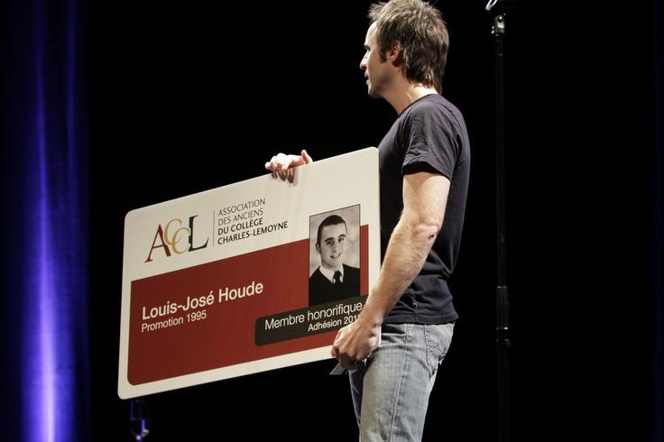 Louis-José Houde (1995), membre honorifique de l'ACCL.