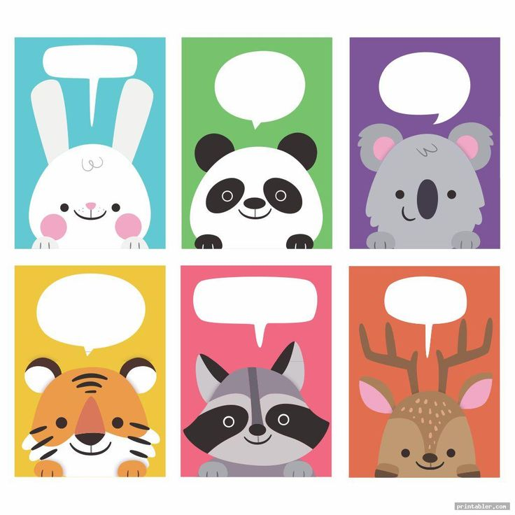 colorful printable animal flash cards in