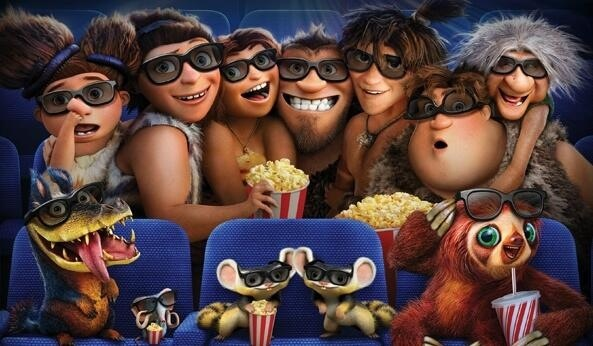 """""""Los Croods"""" te esperan en el cine."""
