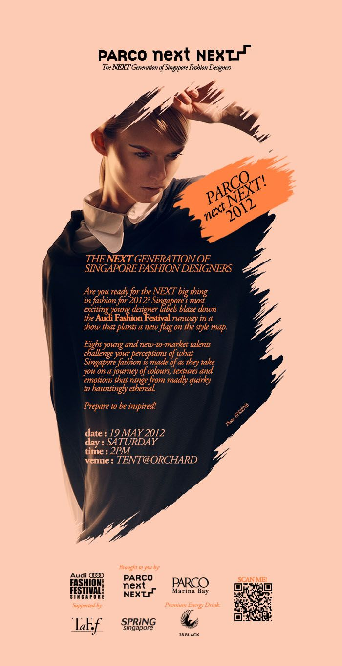 Win Tickets to Audi Fashion Festival 2012 PARCO next NEXT Runway Show - The NEXT big thing in Fashion for the Fashionista in you, featuring Men & Women Spring Summer Collection http://www.beauterunway.com/2012/05/parco-next-next-2012-audi-fashion.html