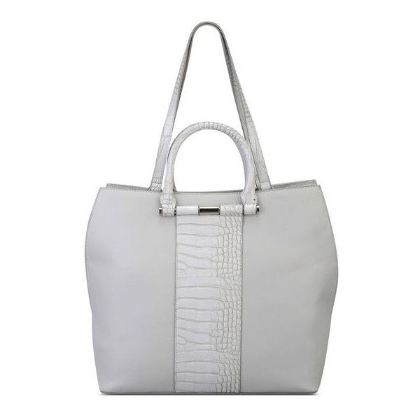 Nine West Divide and Conquer Tote ($80) ❤ liked on Polyvore featuring bags, handbags, tote bags, grey synthetic, purse tote, grey tote, grey tote bag, faux leather purses and faux leather tote bag
