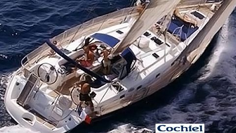 general view of Cochiel, a beneteau 50 , 15 mt long  elegant and spacious for your sailing holidays  to rent it skippered mycochiel AT gmail.com  www.facebook.com/cochielsailyacht