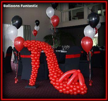 Displays, Balloons Funtastic - balloon displays, Window Displays, Static Displays, helium balloons, balloons, school balls,wedding balloons,...