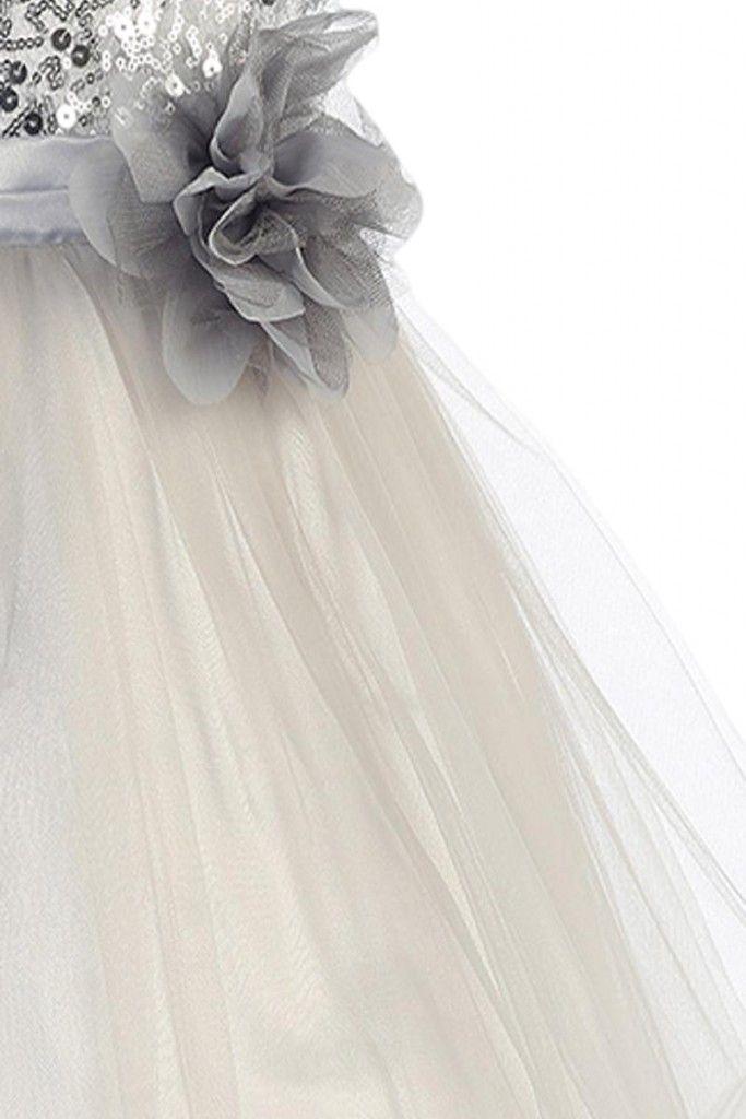 Brudepikekjole i sølv
