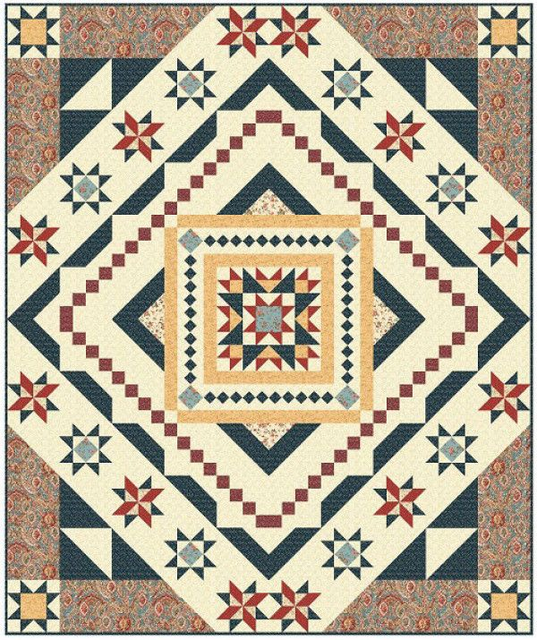 82 best queen size quilts images on pinterest queen quilt queen essex block of the month is a queen size quilt featuring a fandeluxe Image collections