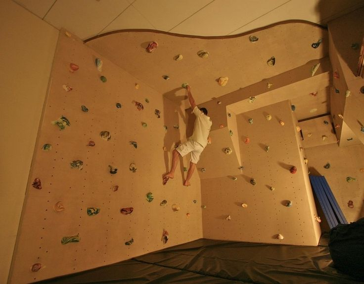 Eclectic Home Gym by Kuhl Design Build LLC rock climbing wall in attic