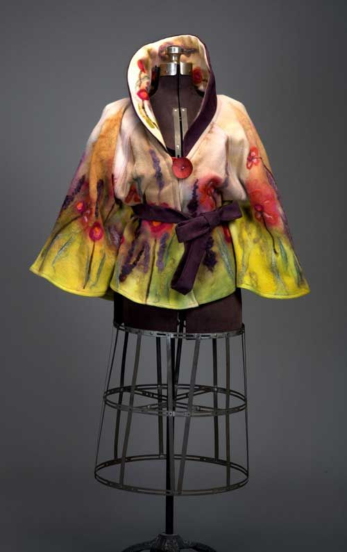 Felted jacket by Paula Grill.
