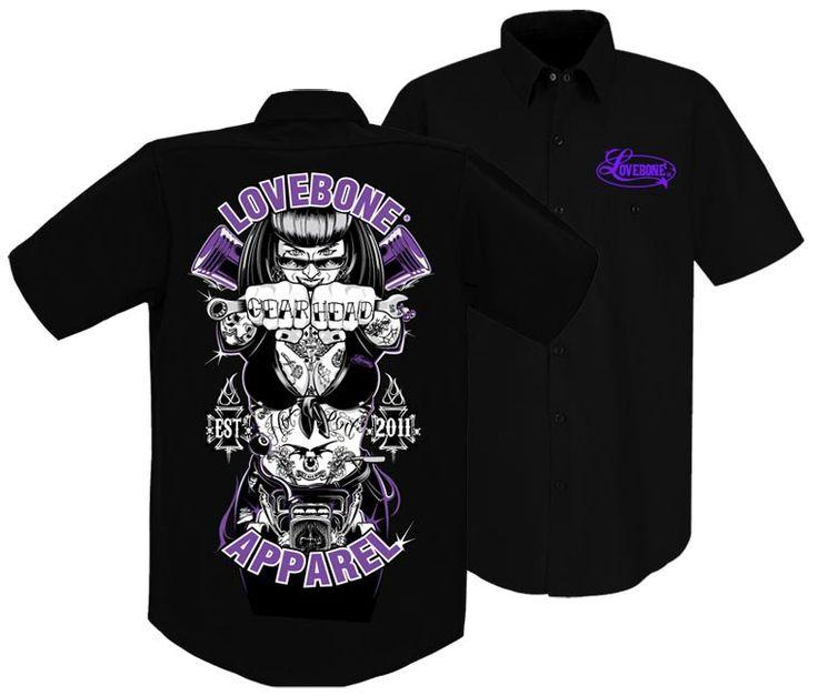 NEW GEAR HEAD mechanic shirt is now available on our website! #mechanicshirt #customcarculture