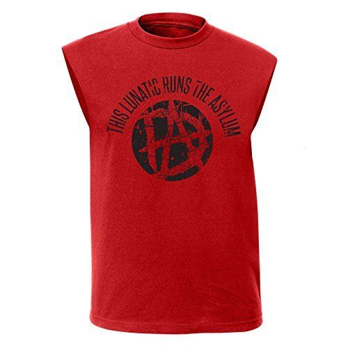 Dean Ambrose Lunatic WWE Mens Sleeveless Red Muscle T-shirt