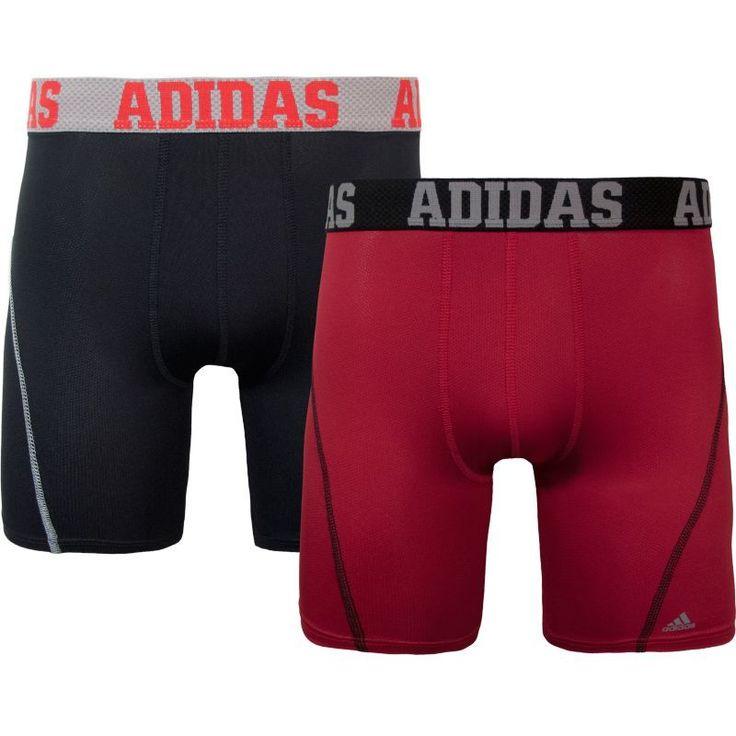 "adidas Men's Sport Performance climacool 9"" Midway Briefs - 2 Pack, Size: Medium, Black"