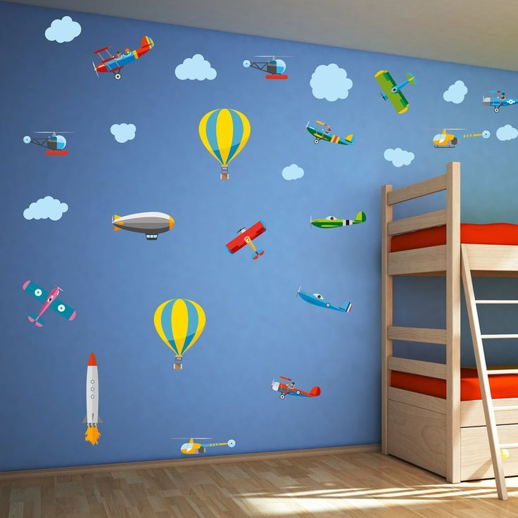 Magnificent Flying Machines Childrens Wall Stickers
