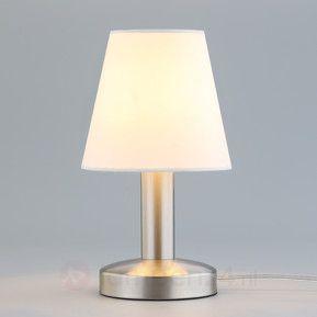 Nachttafellamp Hanno met witte, textielen kap veilig & makkelijk online bestellen op lampen24.nl