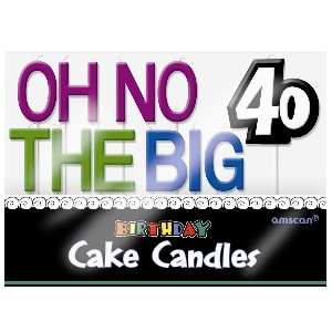 Oh No 40 Birthday Cake Candles