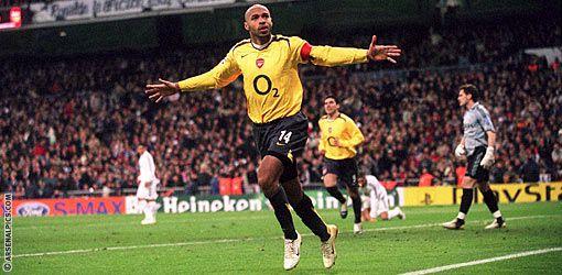 Thierry Henry en Ligue des Champions avec Arsenal