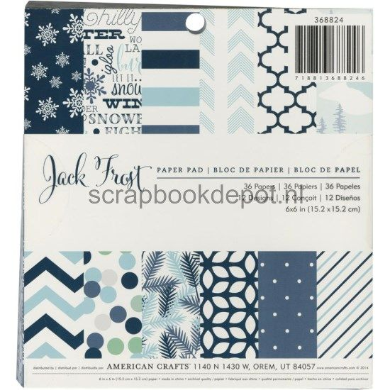 American Crafts Jack Frost - Paper Pad 6x6inch