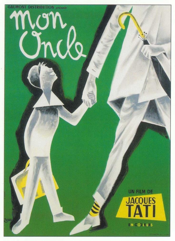 Jacques Tati Mon Oncle Cine Frances Carteles De Cine Cine
