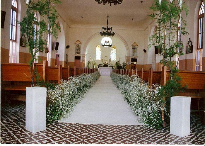 decoracao casamento gypsophila : decoracao casamento gypsophila: images about decoracao igreja on Pinterest