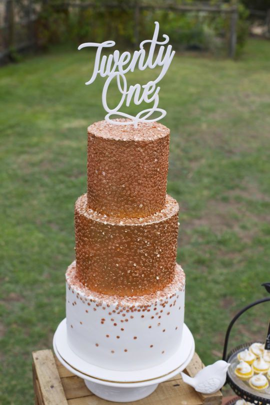 Bronze Confetti Cake Cakes Beautiful Cakes For The