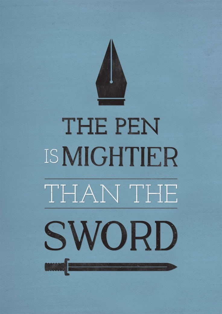 the pen is mightier than sword The pen is so much important than the sword because writing is priceless there are so many people are writers whose story we are listening from the childhood, and we cannot say that it is wrong we are learning from the childhood about the big stories which was very famous writers has written.