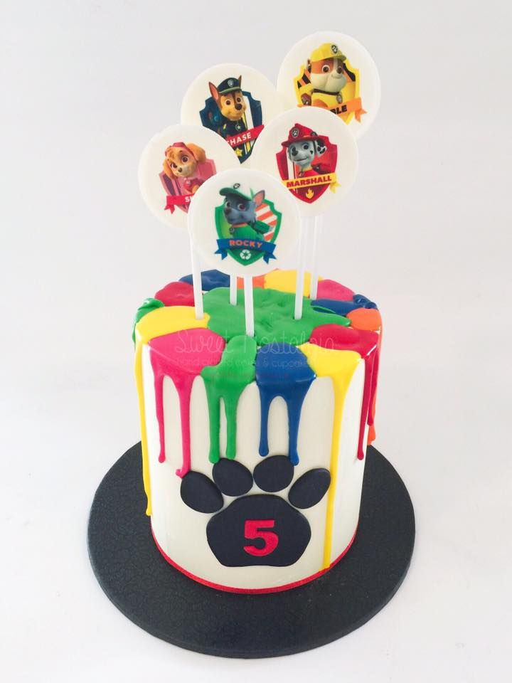 Mini Drip Cake In Paw Patrol Colours Party Time Cake
