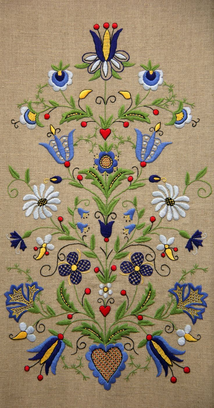 Image result for embroidered blue and white tunic, polish