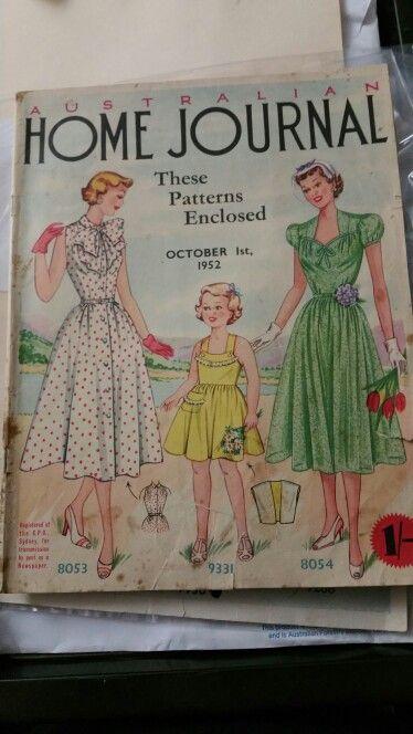 Australian home journal October 1952 cover