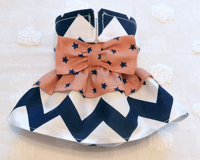 Female Dog Diaper Skirt  Perfect for your dog in Season and House Training Navy Chevron and Navy Stars by piddleronthewoof on Etsy