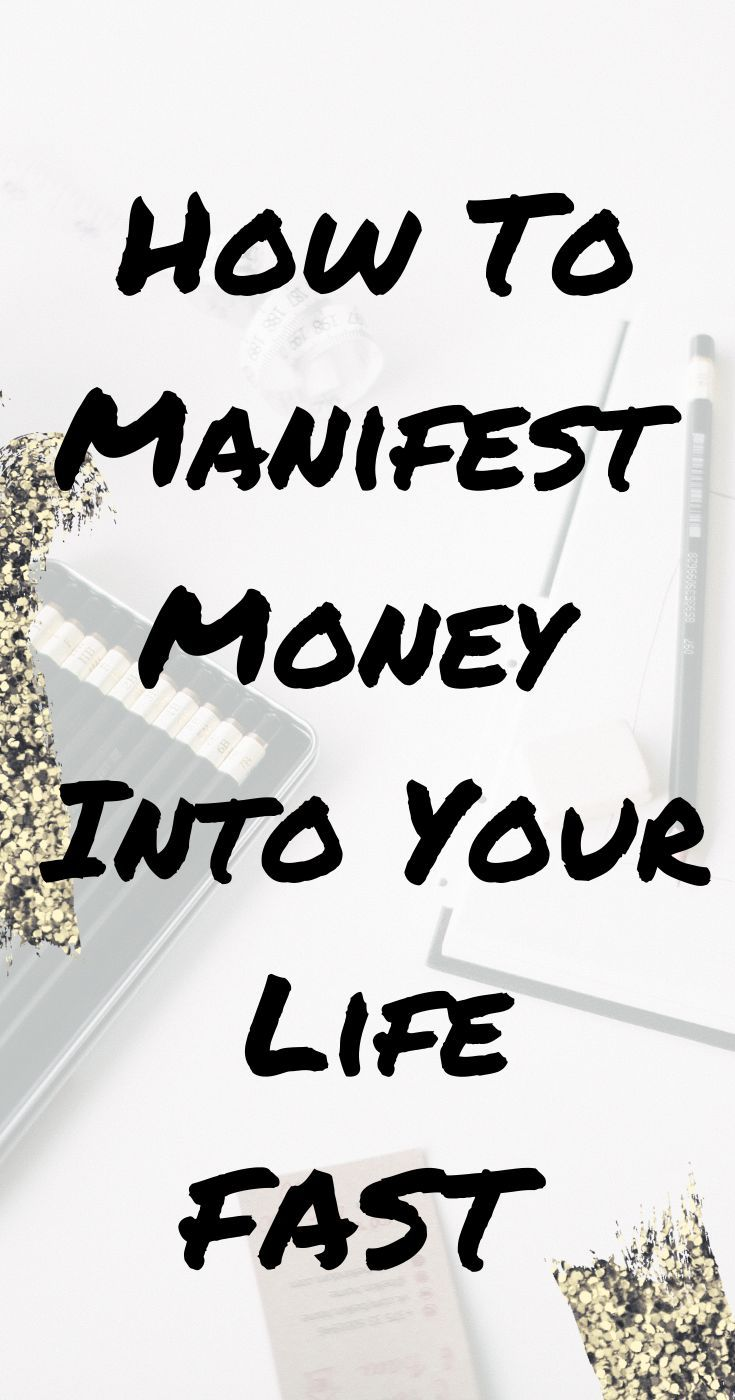 Do you want to manifest money into your life fast learn